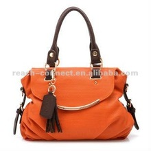 2013 fashion bright color pu ladies fancy bag