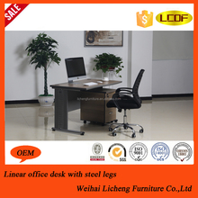 Melamine modern round edge office desk/height adjust computer desk/office table accessories