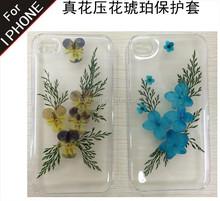 Pressate a secco caso fiore per iphone 6, cassa del telefono cellulare per iphone6