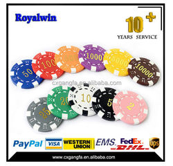 ABS custom printed ceramic cheap poker chips round shape clay poker chip