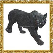 Fiberglass reisn bronze life size panther statue with cheap price
