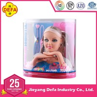 Hot Sale Cheap Plastic Girl Toy Blonde-haired Vinyl Doll Head
