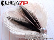 Decorative feather Fascinator factory wholesale fancy Ivory Black and Blush Peacock Hair Comb