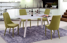 modern design simple metal glass dining table set for sale