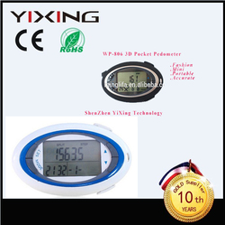 outdoor body building equipment kilometer Step counter /calorie /distance pedometer