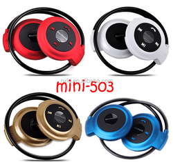 China hot selling cheap wireless microphone stereo wireless bluetooth stereo headphone mini 503