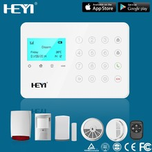 High quality GSM / SMS white alarm systems gsm wireless auto dial home security alarm system