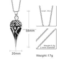 316l Stainless Steel Casting Pendant Chian Necklace Big Beak Pendant