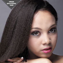 VV Aliexpress Wholesale Factory Unprocessed Virgin Remy Kinky Straight Human Hair Full Lace Wig With Baby Hair
