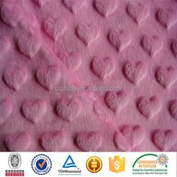 china supplier wholesale lovely heart minky dots