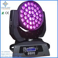 36pcs*10W LED wash zoom moving head stage light / night club DJ light