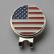 Hot Golf Products Promotional Hat Clips Ball Markers With US Flag Ball Markers