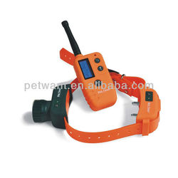 Orange Hunting Dog Collar Can Control 2 Dogs