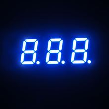 new 2015 free samples ultra blue 0.4 inch three digits segment led display electronic price signs