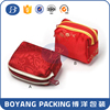 red mini satin bags for jewelry with zipper