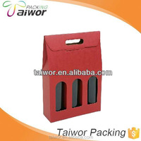 OEM 3 Bottle Beer/Wine Pack Carrier Box