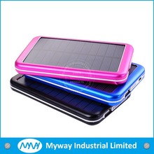 portable mobile solar charger / solar mobile phone charger 6000mah with high speed conversion