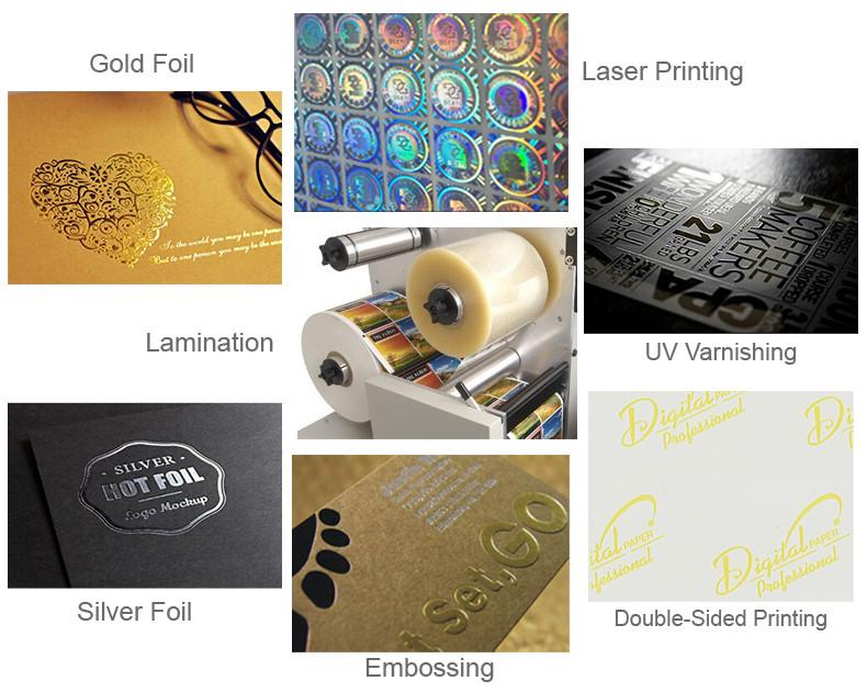 Tipo de Etiqueta adesiva e Etiqueta Personalizada Uso Película Transparente para Cartão de IDENTIFICAÇÃO Holograma de Segurança