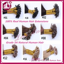 Brazilian Keratin U tip/Nail tip hair extension 1g/strand 50g/pack Hair #99j 14 -- 26 inch in stock