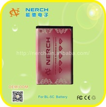 3.8v 890mah Li-ion Mobile Phone battery for Nokia BL-5C