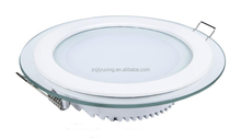 Glass diffuser high quality for europe market round 6w led panel lighting