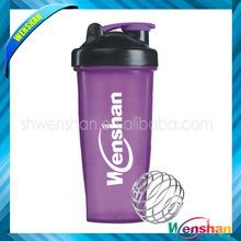 Wenshan 600ml custom logo protein shaker bottle