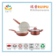 Hot products ceramicore cooker painting in gradually changing color nonstick cinsa enamel cookware,ceramicore cookware set