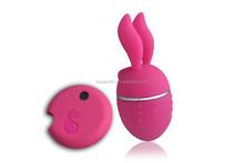 rabbit shape vibrator with wireless remote control