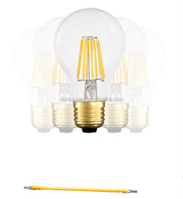 2015 Export America Italy LED Filament Bulb Energy saving E27 8W, high brightness LED bulb