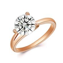 Korea Design Stainless Steel Rings Rose Gold Finger Bands Lady Jewel