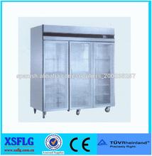 XSFLG 3 puertas transparentes nevera para restaurante