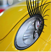 Sexy lovely Car Headlight Eyelashes Universal Fits All Makes High Quality Decal 1 pair
