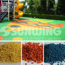 low prices coloured epdm synthetic granule rubber for children