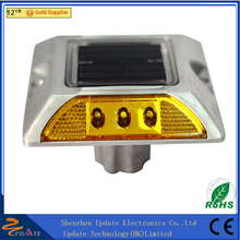 IP68 Traffic Light Aluminum Reflective Pavement Markers Deck Dock LED Solar Road Stud