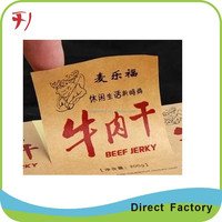 Color printing vinyl clear cosmetic label packaging clear cosmetic label sticker