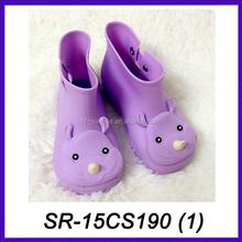 Crianças roxo melissa botas de chuva de atacado plástico botas de chuva moda botas de chuva