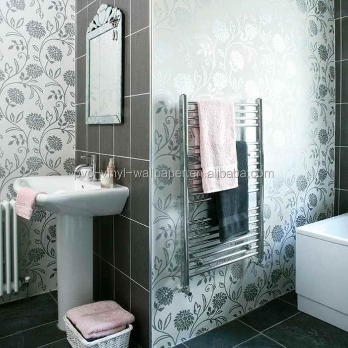 2015 nouveau papier peint tanche pour salles de bains - Papier peint vinyle pour salle de bain ...