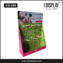 portable cardboard accessories counter display for cosmetics store retail