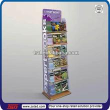 TSD-W165 Custom book store floor wooden magazine display stand,magazine display rack,wood display shelf