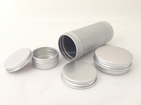 blank fancy aluminum cans/jars for body cream food canning jars