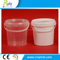 Wholesale/retail food grade plastic bucket in clear/white color