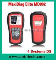 Original Autel Maxidiag Elite MD802 car pin code reader for sale on Christmas