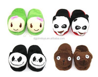China factory customized OEM design animal stuffed plush slipper for children