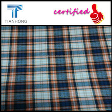 Wholesale 21S Combed Cotton Checks Flannel /Blue Checks Flannel Fabric for Long Sleeves Shirts/cotton flannel pajama fabric