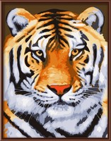 yiwu art suppliers animal design tiger picture diy paint by numbers for lobby decoration GX7270