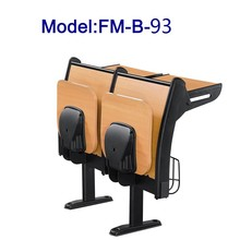 No.FM-B-93 Wooden student desk with folding seat for sale