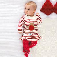 New Arrivals Tops Kids Baby Girl Christmas Stripe T-shirt