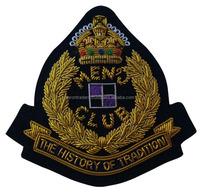 Mens History Club Bullion Custom garment labels