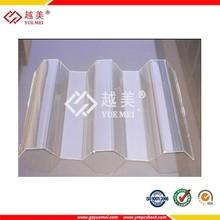Alta resistencia flexión de policarbonato de chapa ondulada