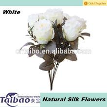 de alta calidad para el hogar decoración de flores de seda natural